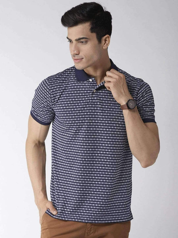 Richlook Navy & White Polo Tshirt