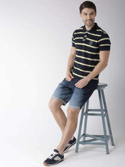 Navy & Yellow Polo Tshirt for Men