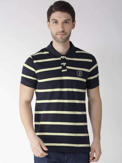 Navy & Yellow Polo Tshirt