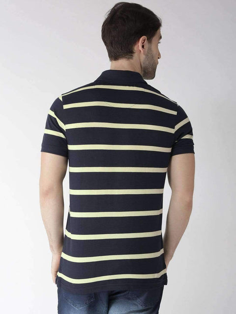 Navy & Yellow Polo Tshirt back view