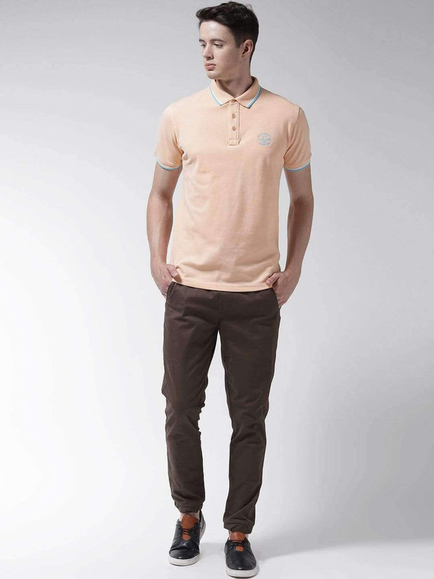 Peach Polo Tshirt for Men