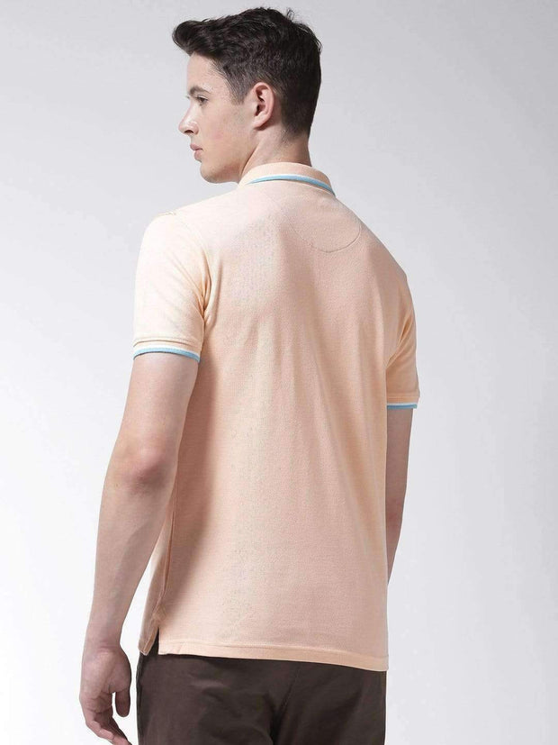 Peach Polo Tshirt back view