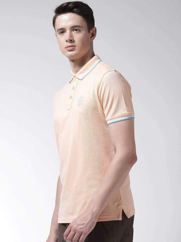 Peach Polo Tshirt side view