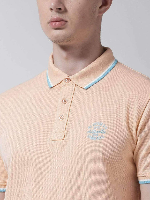 Peach Polo Tshirt full view