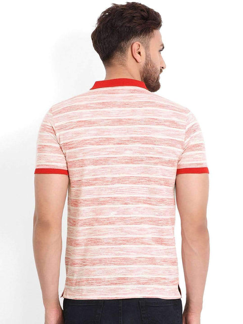 Richlook T-Shirt Richlook Red/Cream Polo T-Shirt