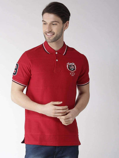 Richlook T-Shirt Richlook Red Polo Tshirt