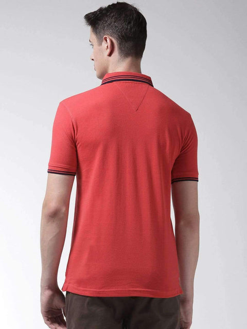 Red Polo Tshirt back view