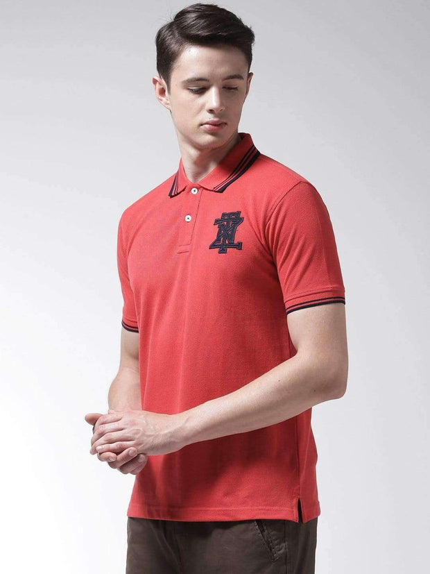 Red Polo Tshirt Side view