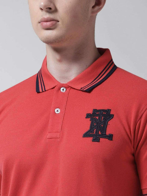 Red Polo Tshirt close view