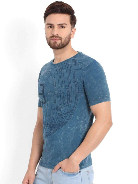 Richlook T-Shirt Richlook Round Neck Blue T-Shirt