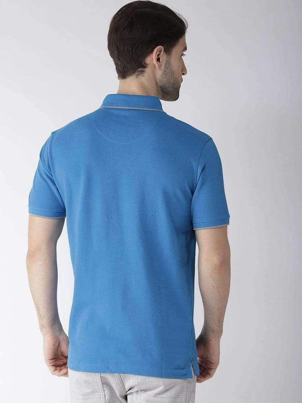 Royal Blue Polo Tshirt Back view