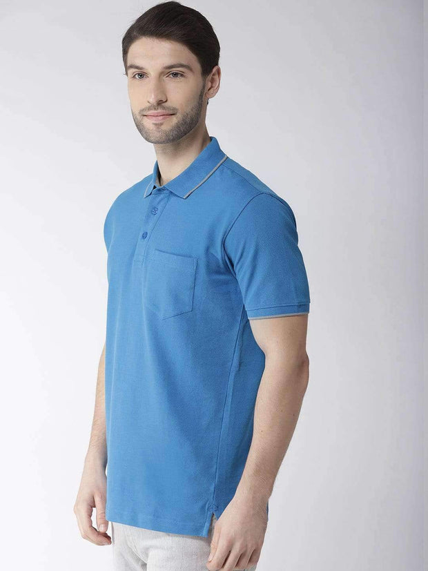 Royal Blue Polo Tshirt Side view