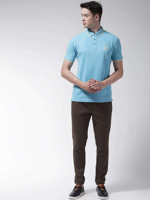 Sky Blue Polo T-shirt full view