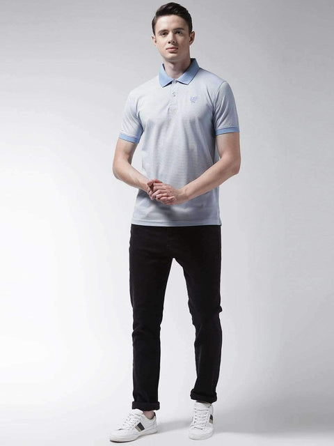 Sky Blue Polo Tshirt full view