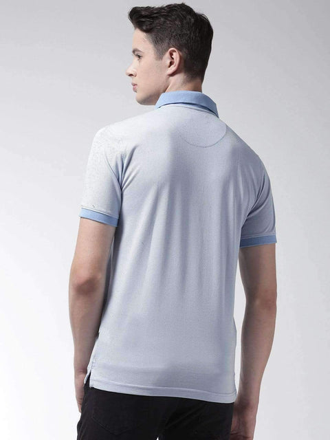 Sky Blue Polo Tshirt back view