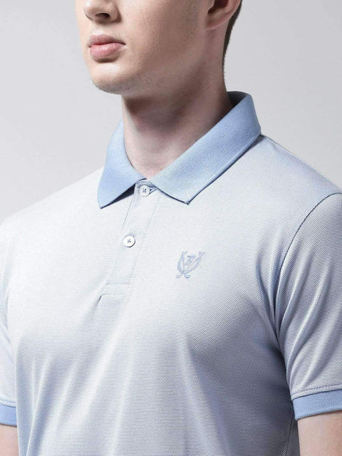 Sky Blue Polo Tshirt close view