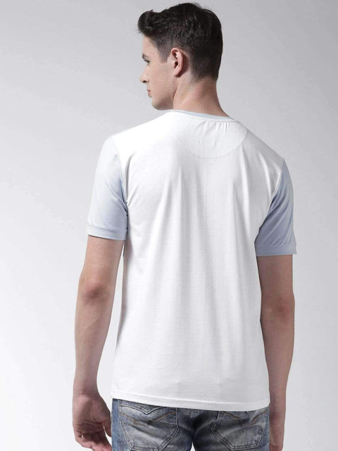 Richlook T-Shirt Richlook Sky Blue Round Neck Tshirt