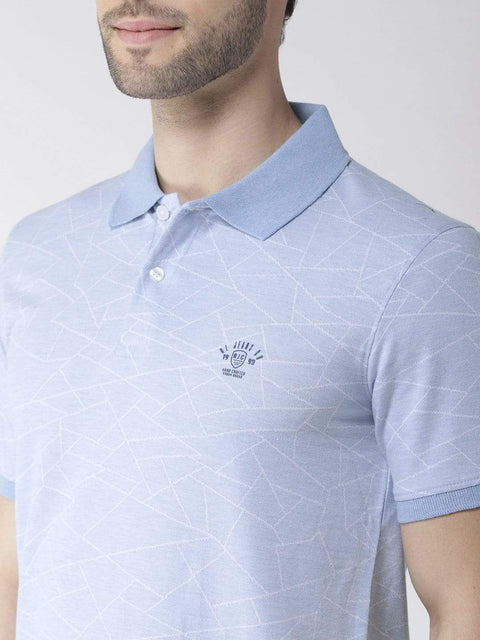 Sky Polo Tshirt close view