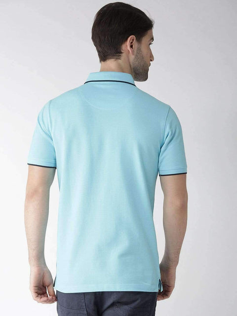 Sky Polo T-shirt back view