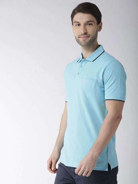 Sky Polo T-shirt side view