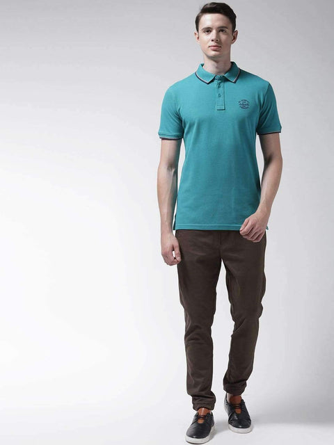 Teal Polo Tshirt for Men