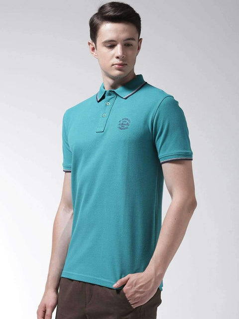 Teal Polo Tshirt side view