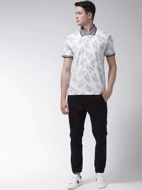 White & Black Polo Tshirt for men