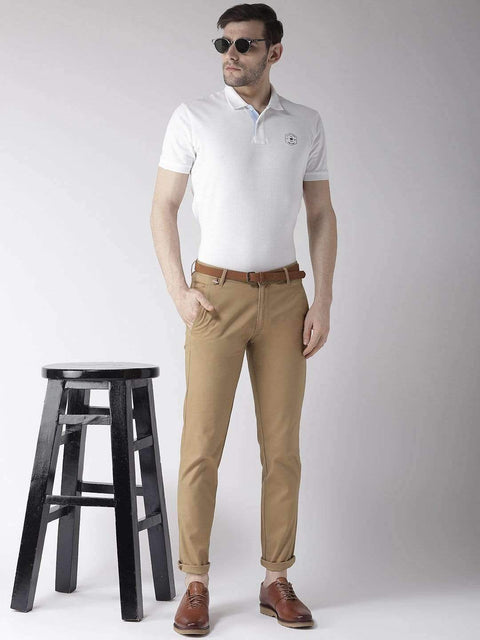 White Polo T-Shirt for men