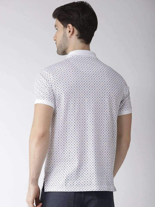 White Polo T-shirt back view