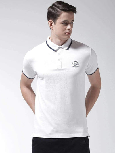Richlook T-Shirt Richlook White Polo Tshirt