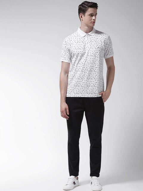 White Polo Tshirt for Men