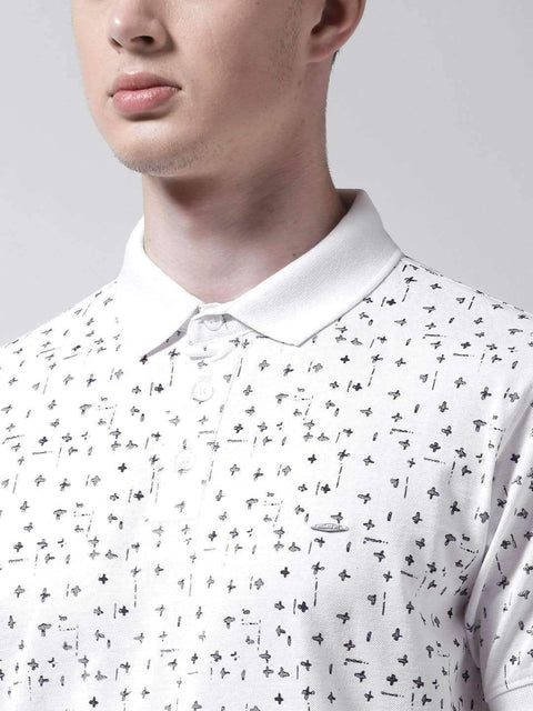 White Polo Tshirt close view