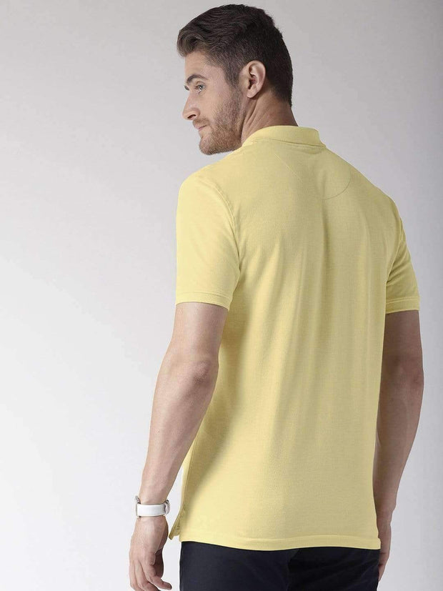 Yellow Polo T-Shirt back view