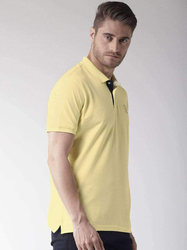 Yellow Polo T-Shirt side view