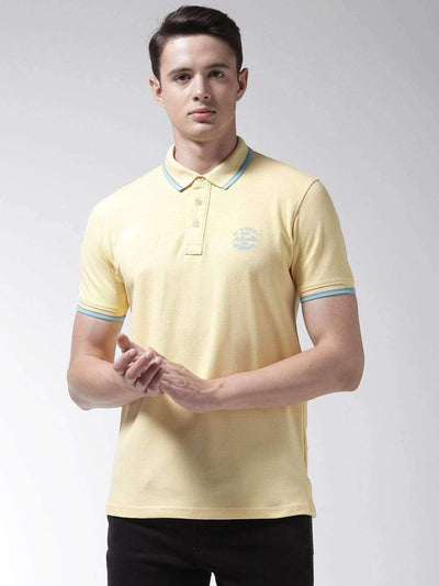 Richlook T-Shirt Richlook Yellow Polo Tshirt