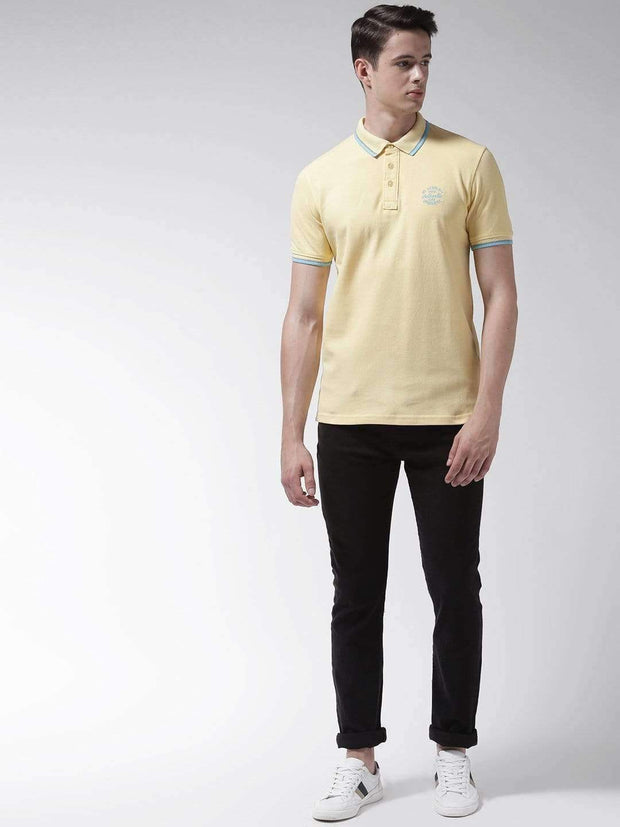 Yellow Polo Tshirt for Men