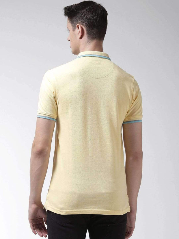 Yellow Polo Tshirt back view
