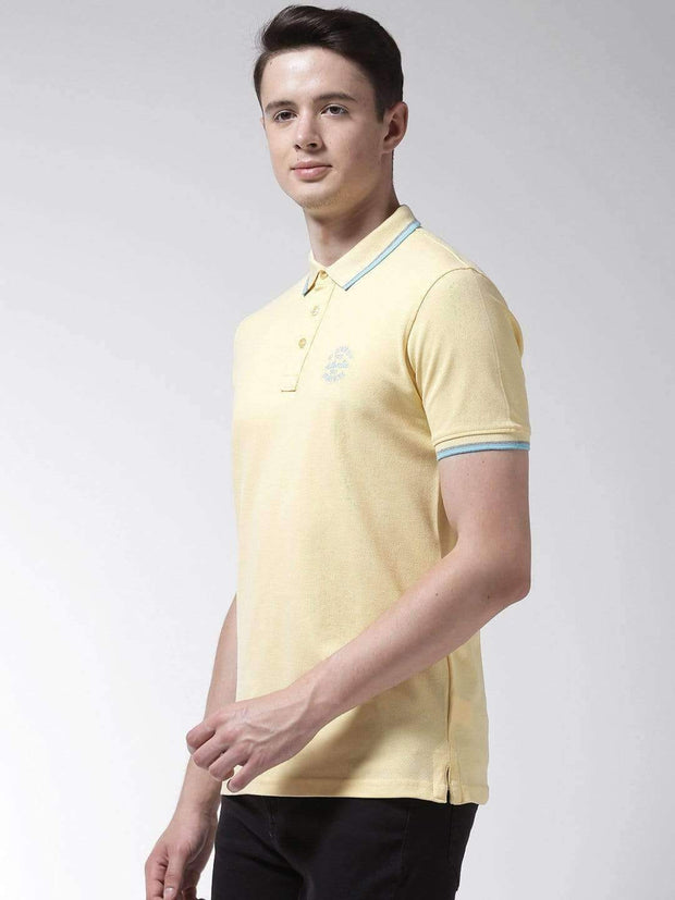 Yellow Polo Tshirt side view