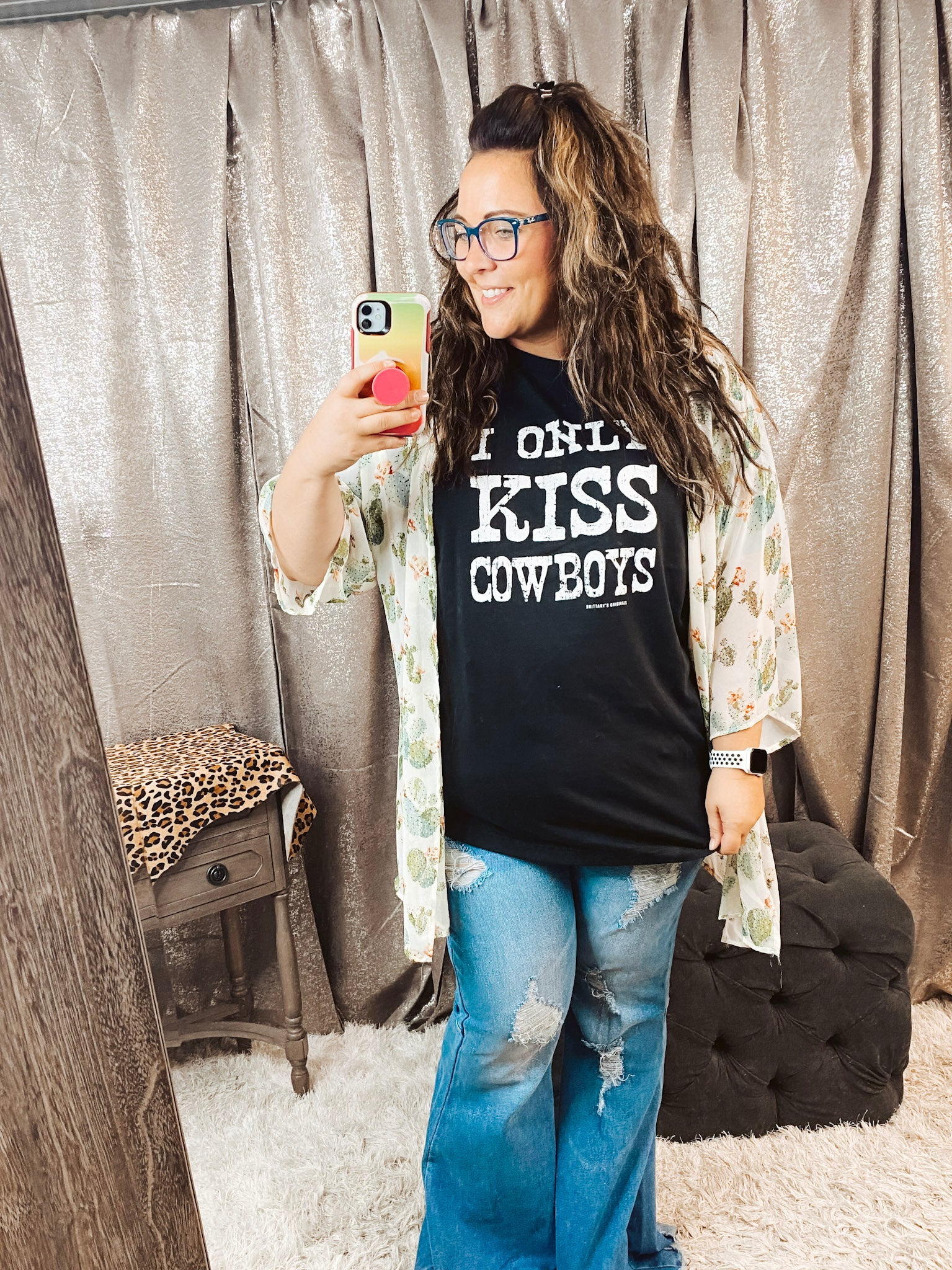 Only Kiss Cowboys Tee