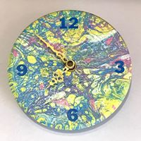 Paint Poured Ceramic Clock