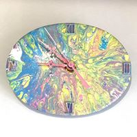 Load image into Gallery viewer, Paint Poured Ceramic Clock