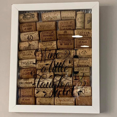 Framed Wall Art - Wine Corks