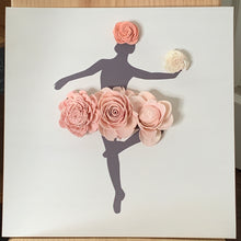 Load image into Gallery viewer, Wood Flower Ballerina Wall Decor