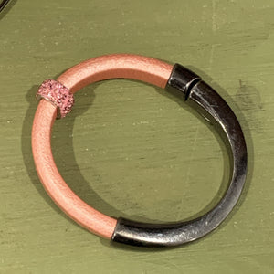 Licorice Leather Bracelet - Pink