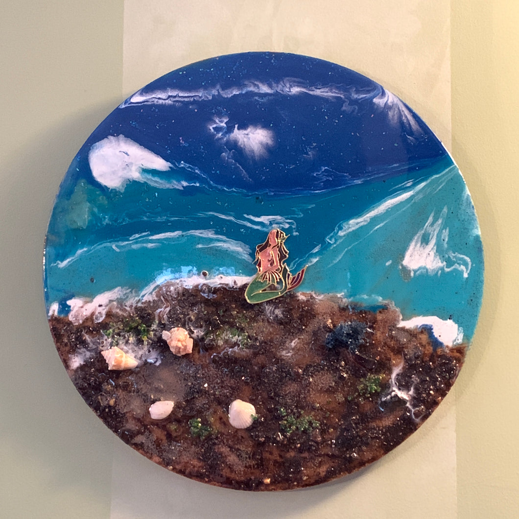 Beach Pour Resin Wall Art