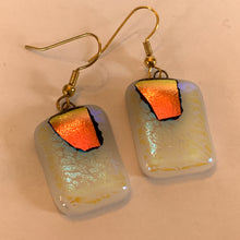 Load image into Gallery viewer, Reclaimed Dichroic Glass Earrings - White