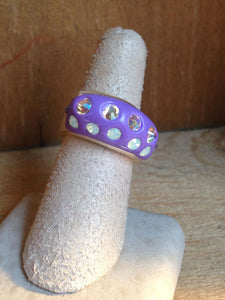 Polymer Clay & Crystal Ring