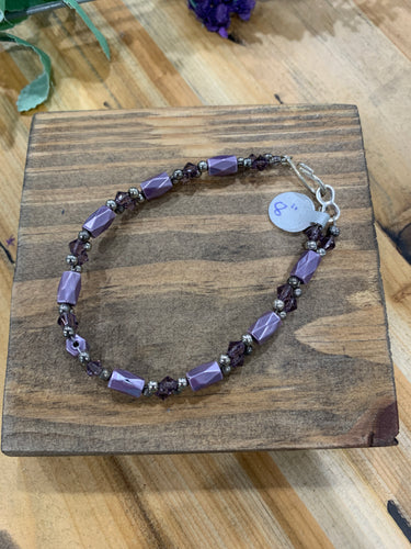 Reclaimed Purple Magnetic Bracelet