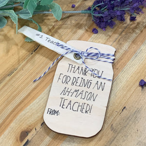 Teacher Gift Mason Jar Magnet
