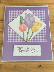 Stamped Thank You Greeting Card